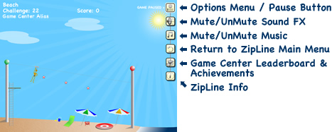 ZipLine Options Menu